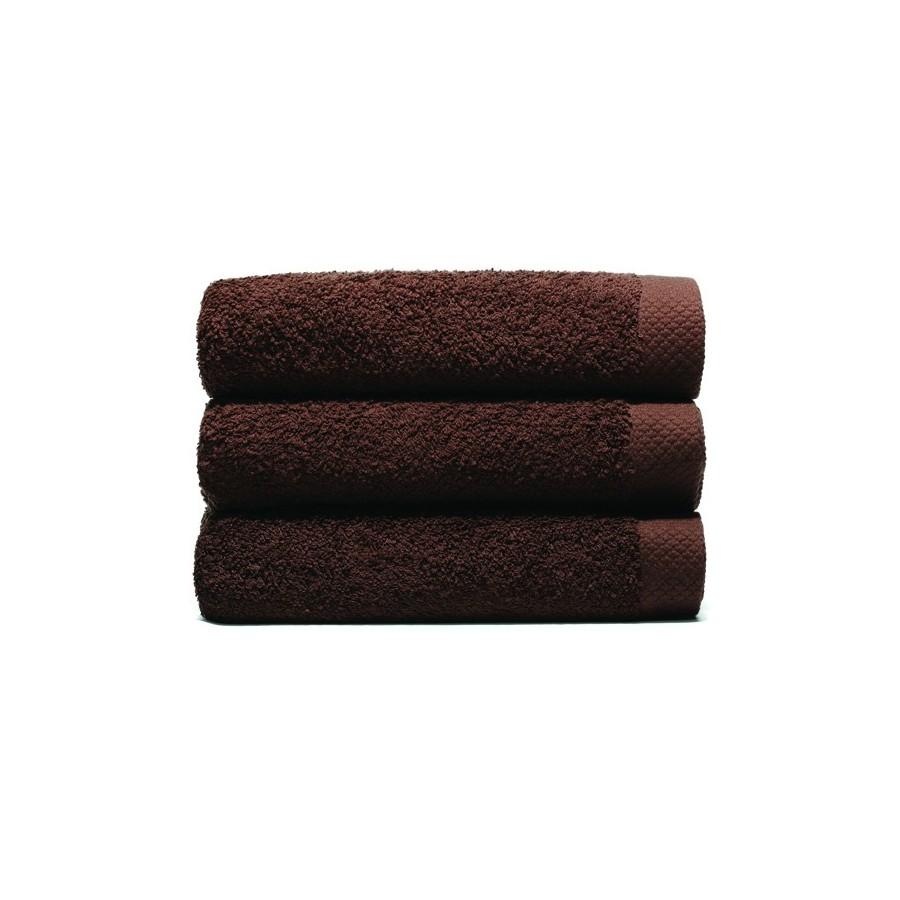 serviette de bain 70x140 cm gamme pure uni chocolat unesalledebain. Black Bedroom Furniture Sets. Home Design Ideas
