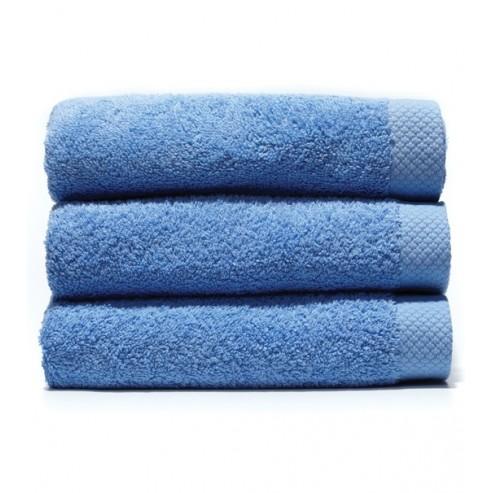 serviette de bain 70x140 cm gamme pure uni bleu unesalledebain. Black Bedroom Furniture Sets. Home Design Ideas