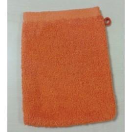 Gant de toilette 16x21 cm Gamme Pure Uni - Orange