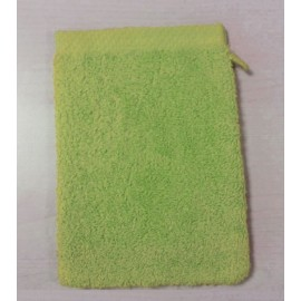 Gant de toilette 16x21 cm Gamme Pure Uni - Vert Pistache
