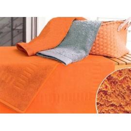 Tapis de bain 50x70 cm Gamme Pure Uni - Orange
