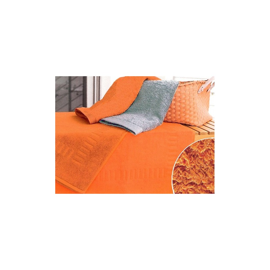 tapis de bain 50x70 cm gamme pure uni orange unesalledebain. Black Bedroom Furniture Sets. Home Design Ideas