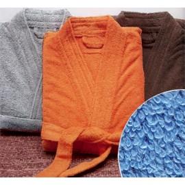 Peignoir de bain taille M couleur Bleu Gamme Pure Uni - Bleu