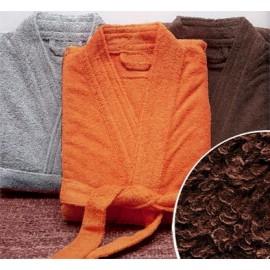 Peignoir de bain taille XL couleur Chocolat Gamme Pure Uni - Chocolat