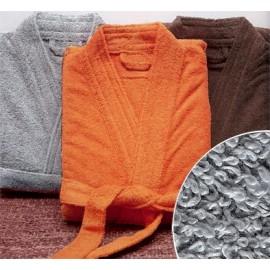 Peignoir de bain taille XL couleur Gris clair Gamme Pure Uni - Gris