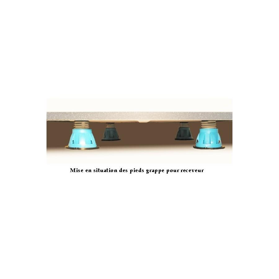pieds pour receveur de douche. Black Bedroom Furniture Sets. Home Design Ideas