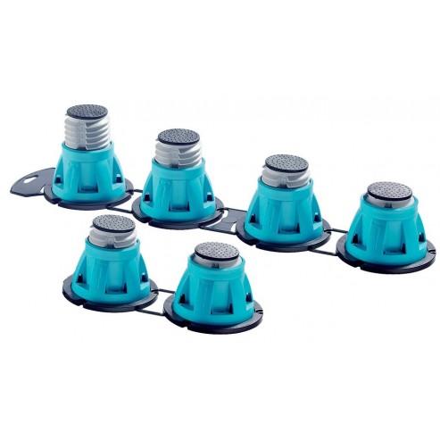 Pieds réglables pour receveur de douche (x6)