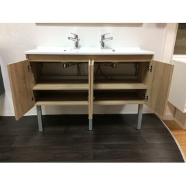 Caisson double vasque PROLINE 120 - Cambrian oak