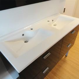 Plan vasque double prof 46 RÉSILOGE - 140 cm