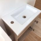 Lave mains avec meuble LILA 44x26cm avec miroir - Cambrian Oak