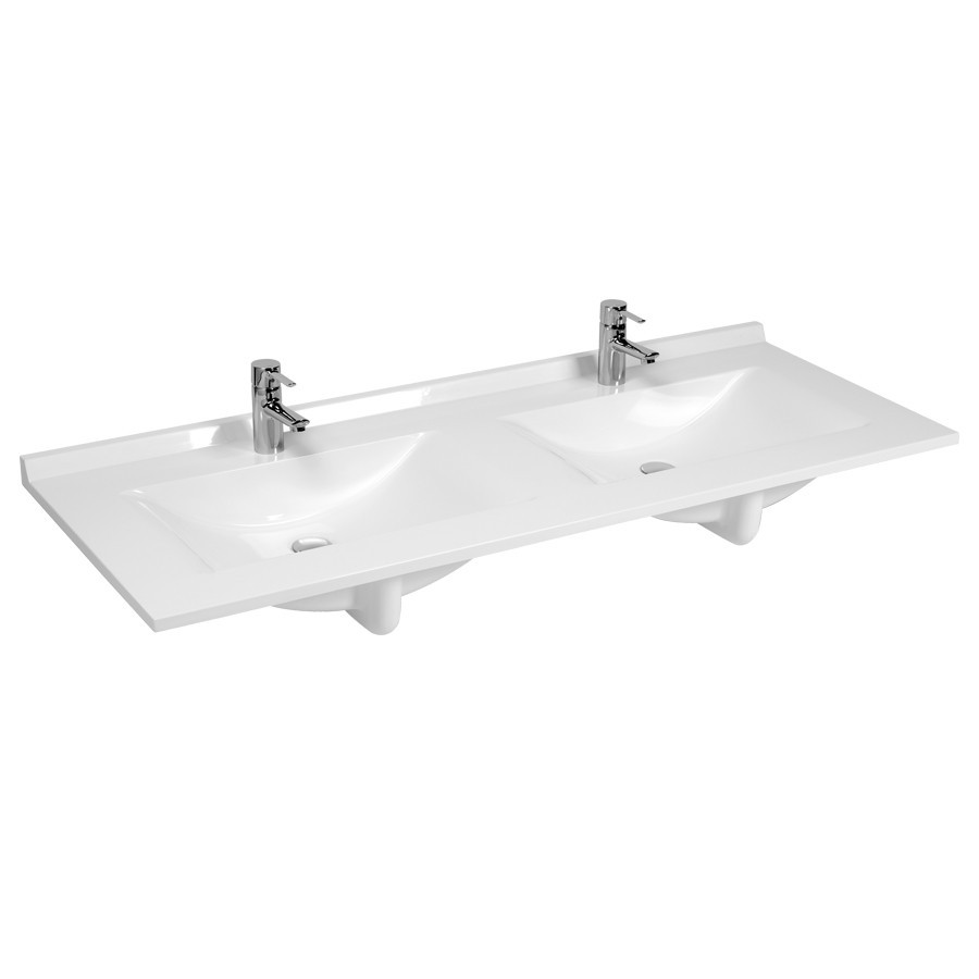 Plan double vasque verre tremp meuble with plan double for Plan double vasque salle de bain verre