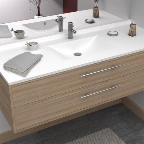 Plan vasque simple en résine de salle de bain