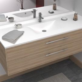 Plan simple vasque centrée RÉSIPLAN - 140 cm