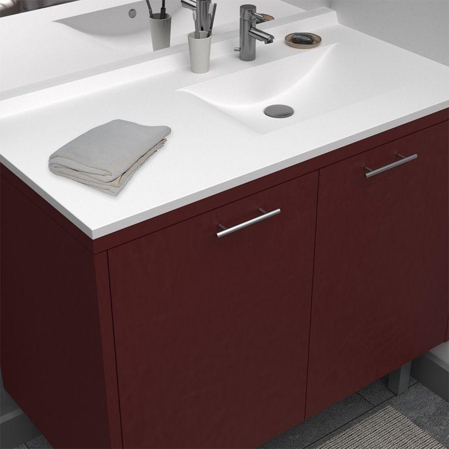 plan vasque simple en r sine de salle de bain. Black Bedroom Furniture Sets. Home Design Ideas