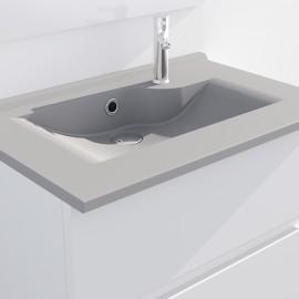 Plan simple vasque gris béton prof 46 RÉSILOGE - 60 cm