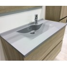 Plan simple vasque gris béton prof 46 RÉSILOGE - 80 cm