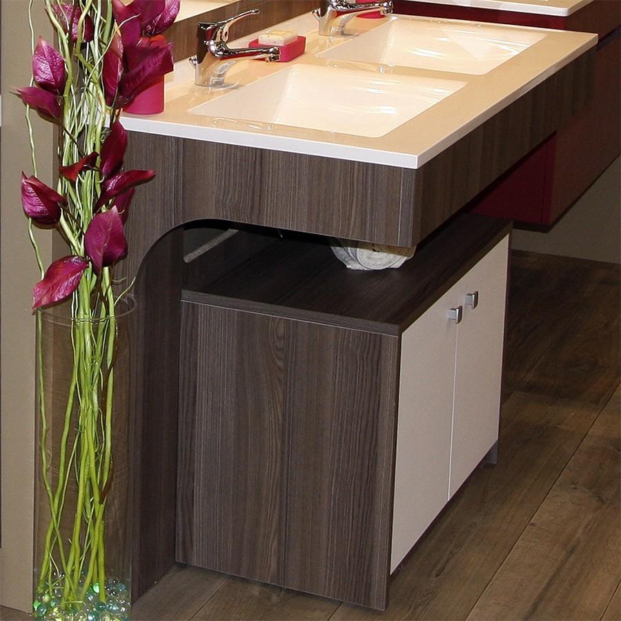 Meuble salle de bain avec caisson mobile pour pmr for Caisson meuble salle de bain