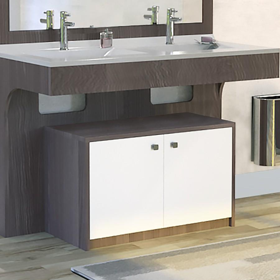 meuble salle de bain avec caisson mobile pour pmr. Black Bedroom Furniture Sets. Home Design Ideas