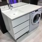 Meuble vasque à Gauche KORA 124 LL G Blanc - hors LL