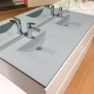 Caisson double vasque ARLEQUIN 140x55 - 5 coloris au choix
