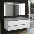 Meuble salle de bain double vasque ARLEQUIN 140x55 - 5 coloris au choix