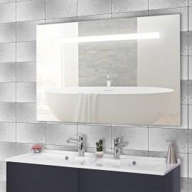 Miroir rétro éclairé ELEGANCE - 140x80 cm - avec interrupteur sensitif
