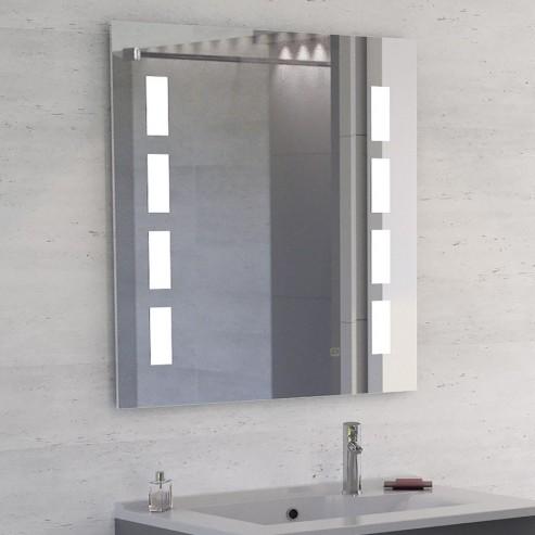Miroir LED anti-buée MOSAIC - 80x80 cm - avec interrupteur sensitif