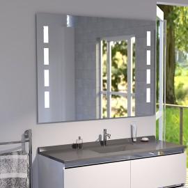 Miroir LED anti-buée MOSAIC - 100x80 cm - avec interrupteur sensitif