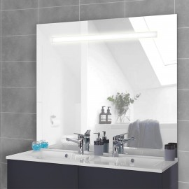 Miroir rétro éclairé MIRLUX - 140x105 cm - avec interrupteur sensitif