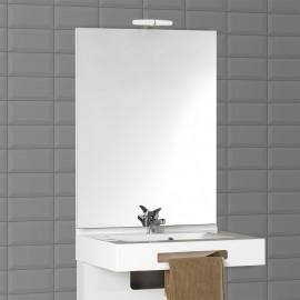 Miroir avec applique MIRCOLINE - 80 cm + applique
