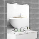 Miroir avec applique MIRCOLINE - 140 cm + appliques