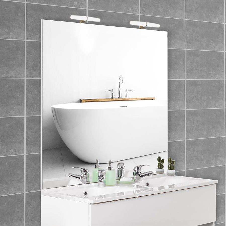 Miroir avec applique pour salle de bain for Miroir 140 cm