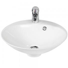 Vasque salle de bain blanc en résine Ø 45 cm RÉSIBOL