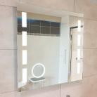 Miroir LED anti-buée EXCELLENCE 70x80 cm - avec interrupteur sensitif, horloge et loupe