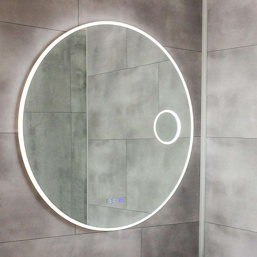 Miroir r tro clairant - Miroir loupe salle de bain ...