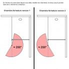 Paroi de douche fixe avec retour 10 mm STURDY - 120+40 cm