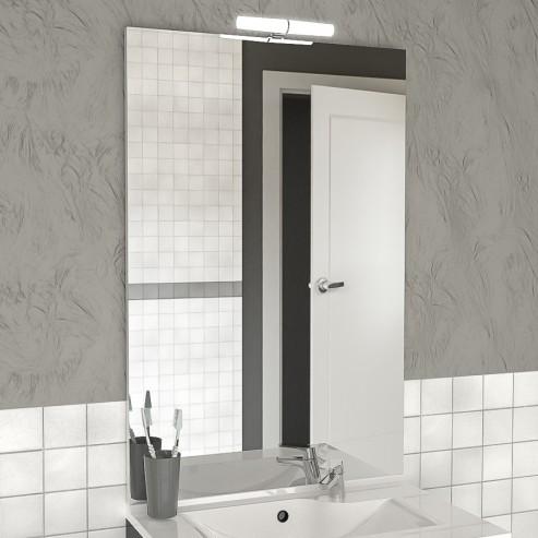 Miroir avec applique MIRCOLINE - 70 cm + applique