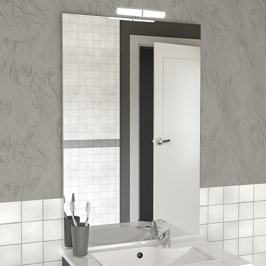 miroir avec applique pour salle de bain. Black Bedroom Furniture Sets. Home Design Ideas