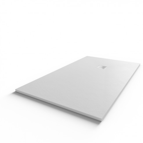 Receveur ultraplat SLIM ardoise coloris blanc - 90*160 cm