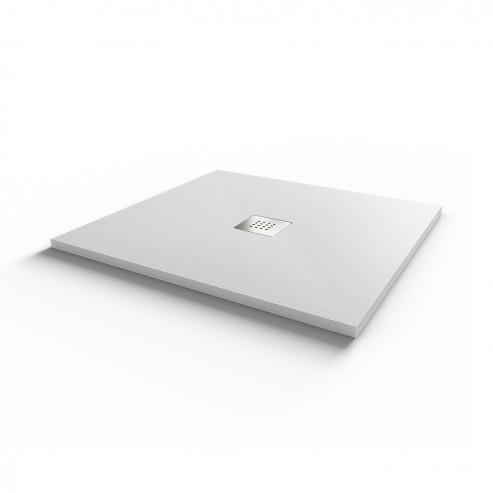 Receveur ultraplat SLIM ardoise coloris blanc - 80*80 cm