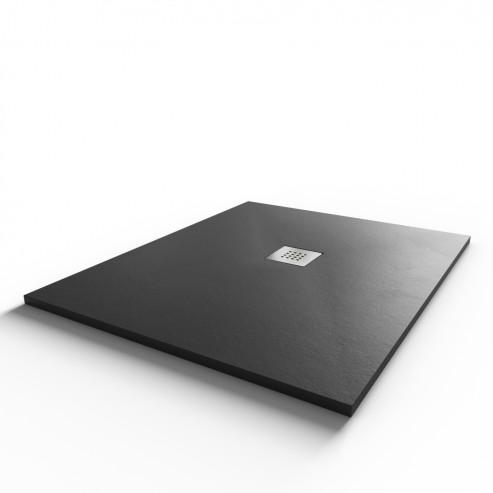 Receveur ultraplat SLIM ardoise coloris anthracite - 80*100 cm