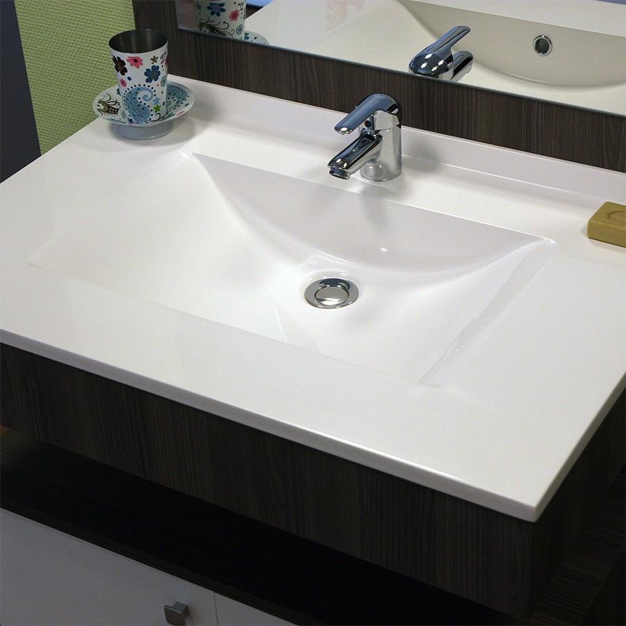 Plan vasque simple en r sine de salle de bain for Vasque salle de bain 60 cm