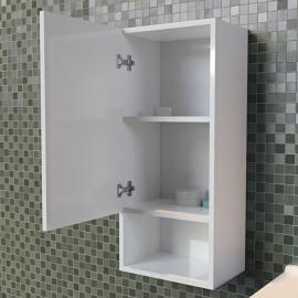 Armoire suspendue de salle de bain réversible GALAXY - Blanc