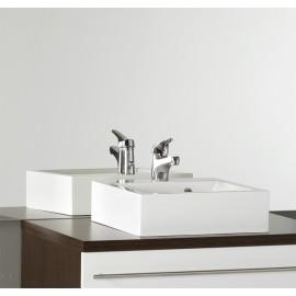 Vasque carrée 40 cm résine salle de bain RÉSICUB