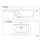 Plan simple vasque céramique CÉRAPLAN - 60 cm