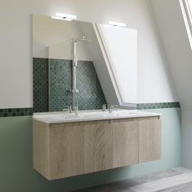 Meuble salle de bain double vasque PROLINE 140 - Cambrian oak