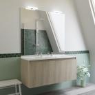 Meuble salle de bain double vasque PROLINE 120 - Cambrian oak