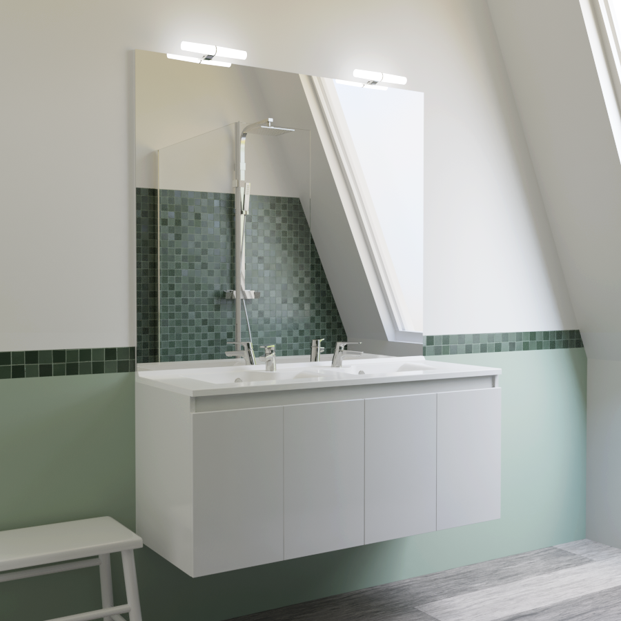 Vasque Sur Pied Avec Meuble salle de bains - meuble design par cher à saisir !