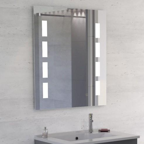 Miroir LED anti-buée MOSAIC - 70x80 cm - avec interrupteur sensitif