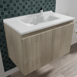 Caisson simple vasque PROLINE 80 - Cambrian oak